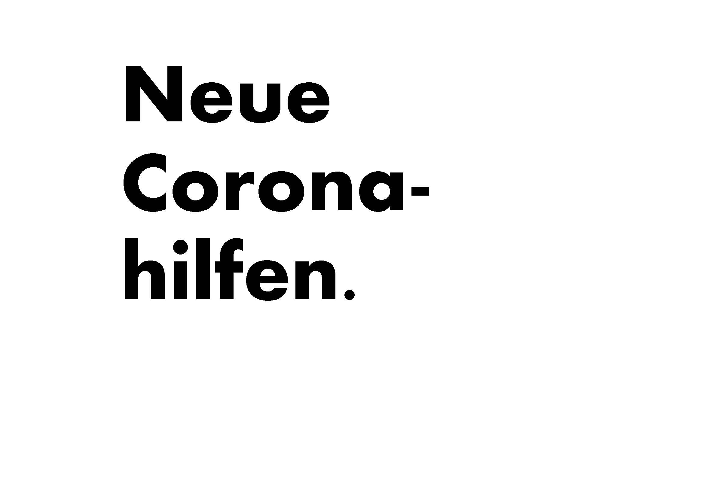 Neue Coronahilfen