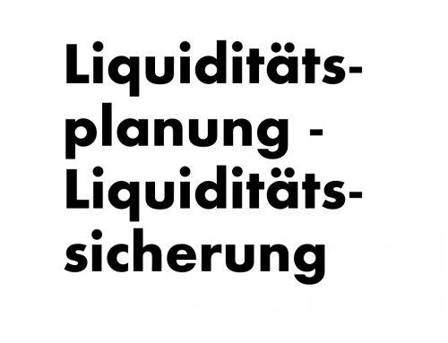 Liquiditätssicherung
