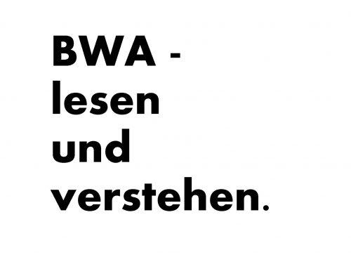 BWA – lesen und verstehen